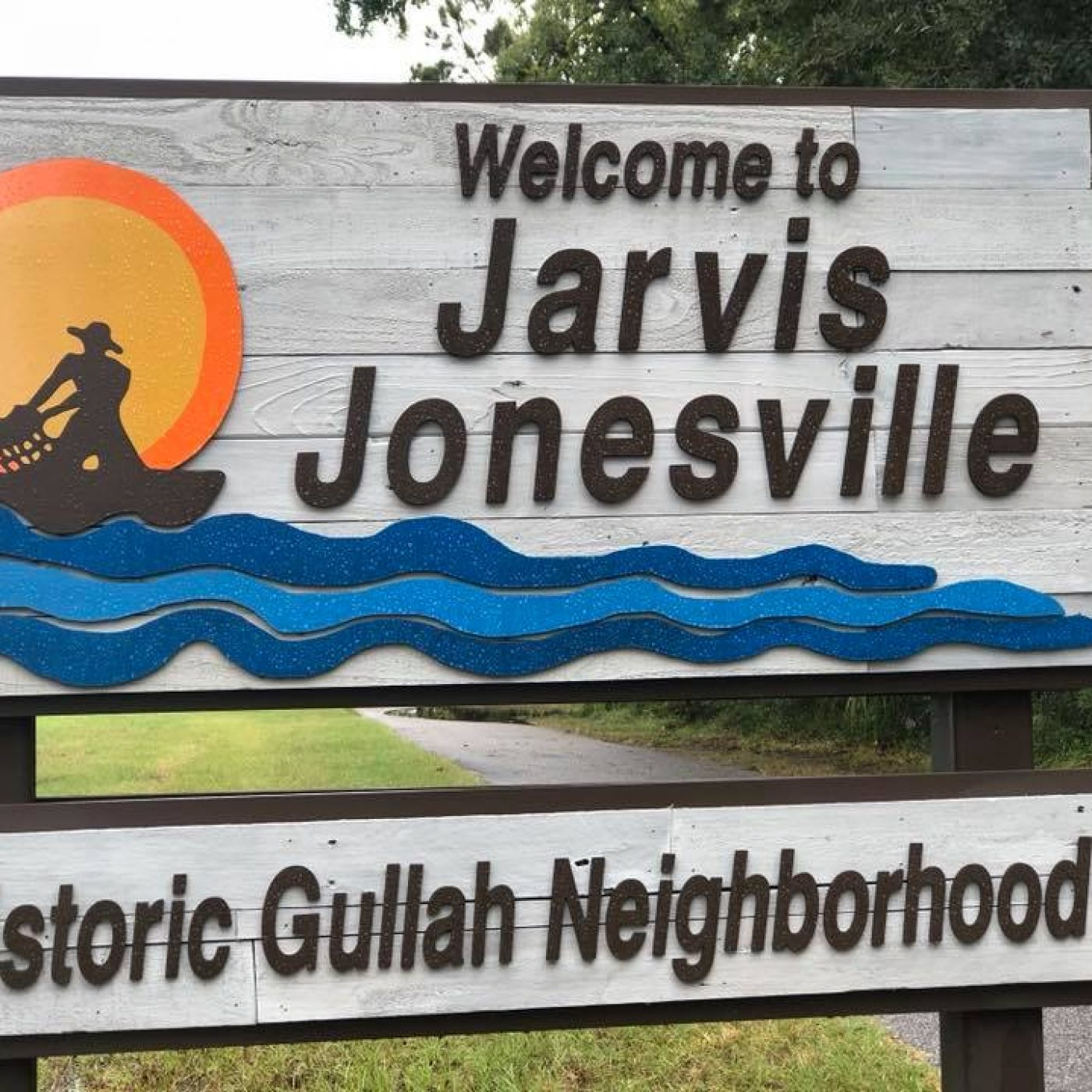 Historic Gullah Neighborhood sign